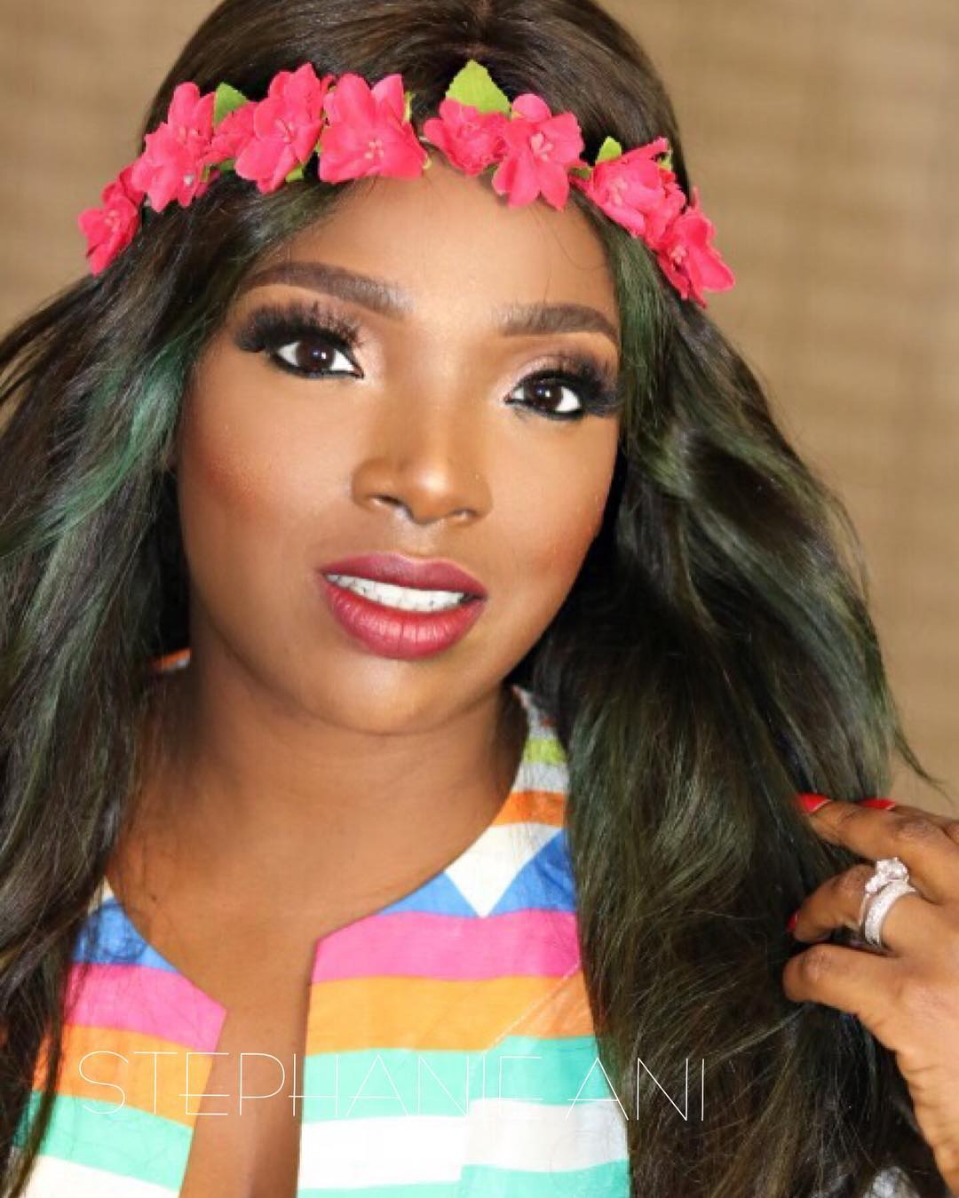 Chika ike chika ike shows off her new look diamond celebrities - The Star Actress And Mom Of Two Looked Stunning For Alibaba S January 1st Concert More Below