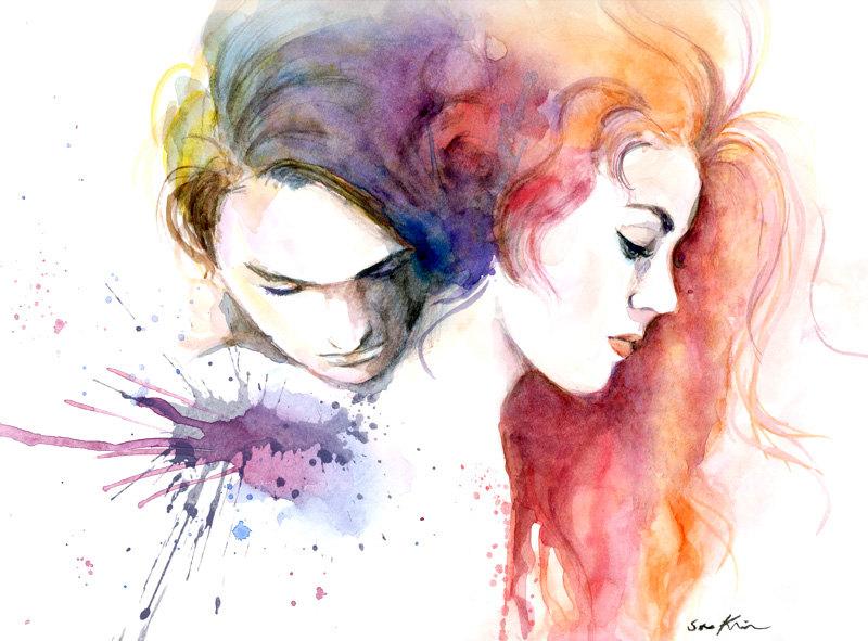 18-Titanic-Leonardo-DiCaprio-Kate-Winslet-Soo-Kim-Celebrity-Watercolor-Portraits-www-designstack-co