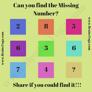 Logical Missing Number Picture Puzzle