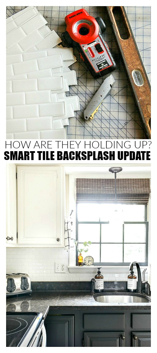 Smart Tile backsplash update 3 years later