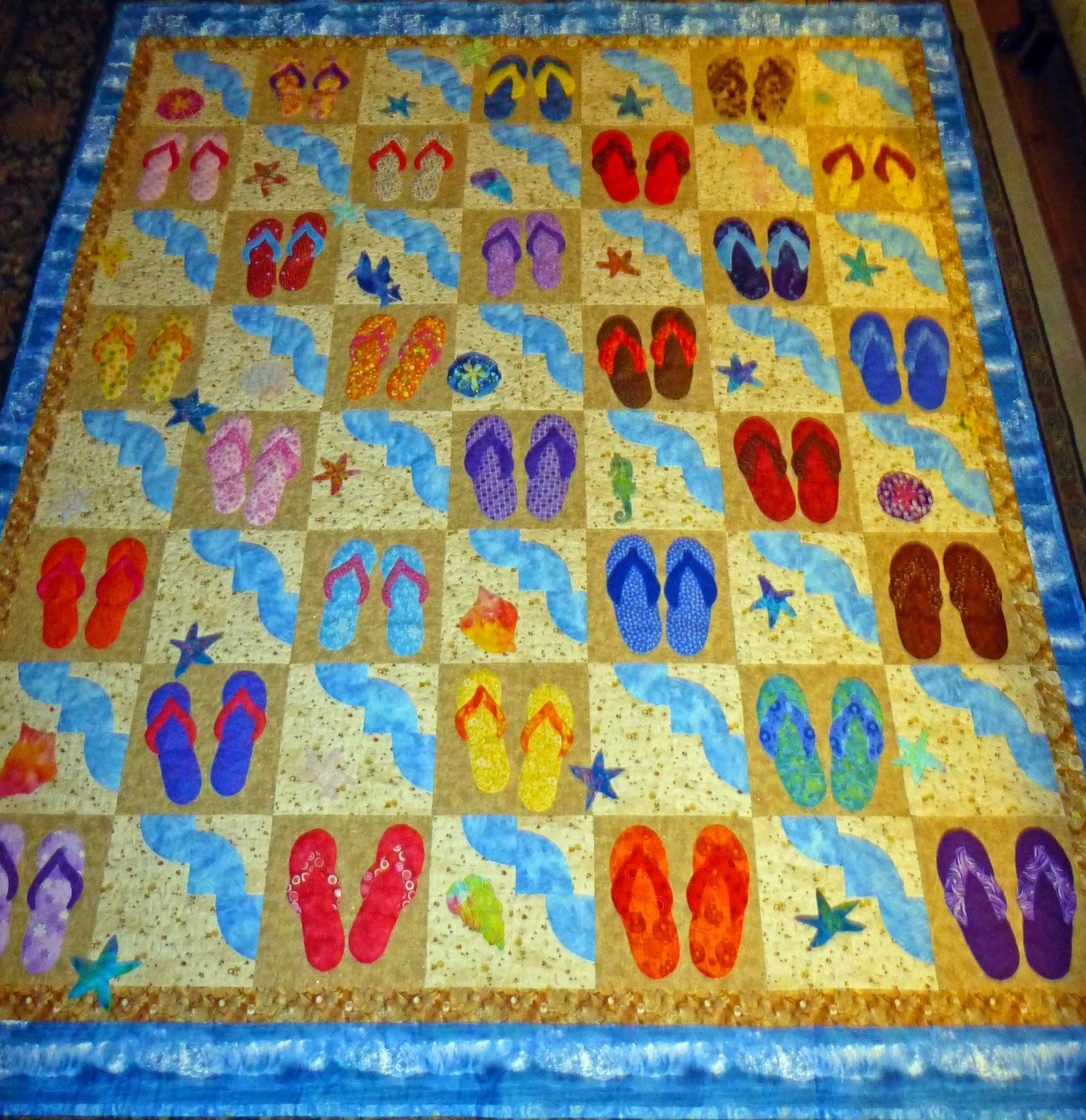 7aaa39dbf24e Damsel Quilts   Crafts  Flip Flop Ocean Quilt