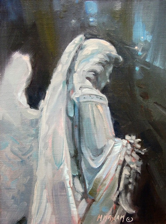 Mary Maxam - paintings: Angel Wings - painting from sculpture