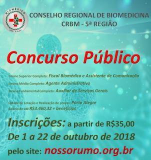 Concurso Conselho Regional de Biomedicina 5 Região (Apostila do CRBM5)