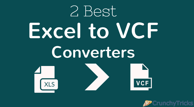 Best Excel to VCF Converters