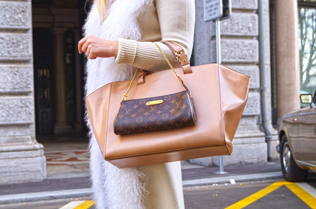 a86409403 top H&M, leggings Asos, cardigan Parisima, shoes Giuseppe Zanotti, handbag  Zara, handbag Louis Vuitton, earrings Swarovski, necklace Swarovski