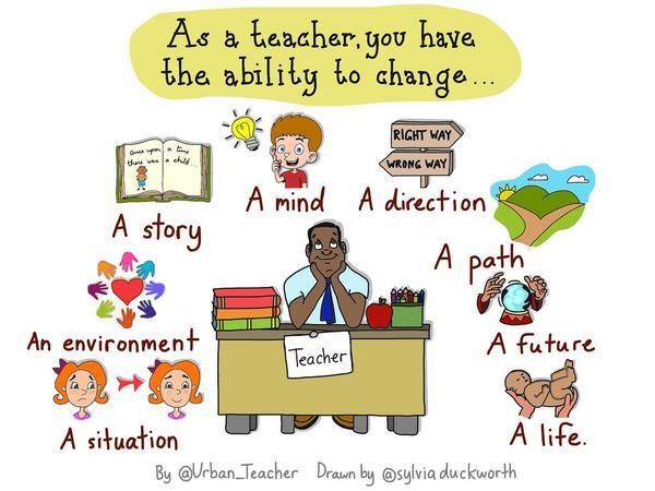 As a teacher you have the ability to change