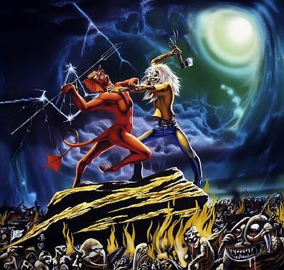 Εξώφυλλο για το Run To The Hills EP των Iron Maiden