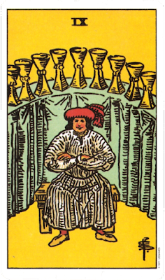 original rider waite tarot Nine of Cups