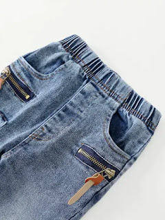 Toddler Boys Zip Decoration Destroyed Jeans