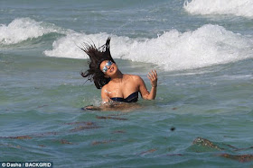 Two most beautiful women in the world,  Priyanka Chopra & Adriana Lima put their bikini bodies on display at a beach in Miami