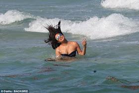 Two most beautiful women in the world,  Priyanka Chopra & Adriana Lima put their bikini bodies on display at a beach in Miami