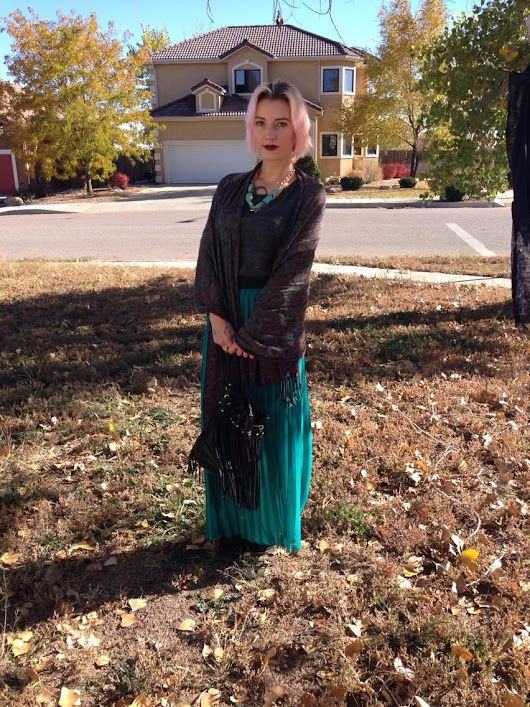 {OOTD} Teal, Maxi and Wrap Scarf