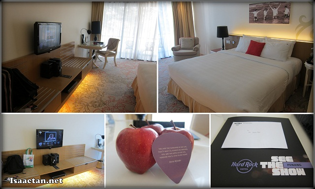 Our seaview deluxe room at Hard Rock Hotel