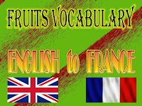 fruits vocabulary english to france