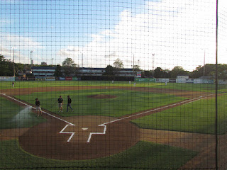 Home plate to center field, Holloway Field