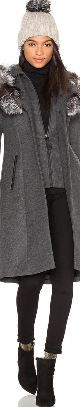 MACKAGE Mila Fox Fur Coat