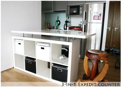 Ikea Kitchen Counter 1950s Formica Table And Chairs 3 In 1 Expedit By Hackers Allthingabout