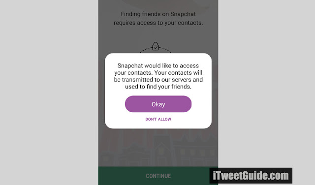 snapchat access your contacts - I Tweet Guide