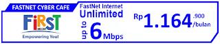 Paket Internet First Media FasNet CyberCafe (Promo)