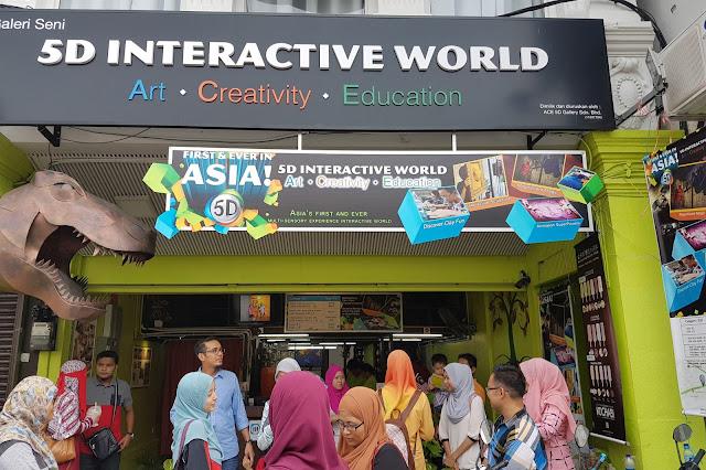 tempat menarik di penang, 5D interactive world, muzium menarik di penang, aktiviti blogger utara,
