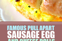 Famous Pull Apart Sausage Egg And Cheese Rolls #cheeserolls #breakfastrecipes
