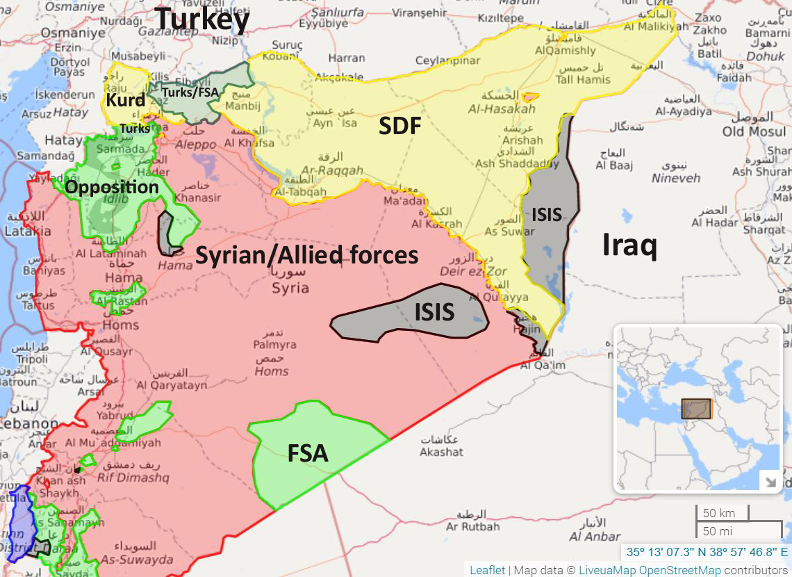 Middle East Perspectives By Rick Francona Syria The Coming - Map of syria and turkey