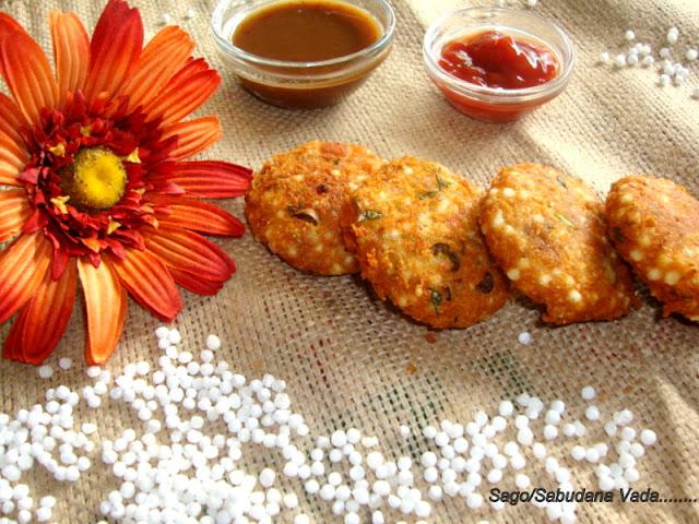 Sago Vada /Sabudana Vada / Sago Wada / Sago Patties / Maharashtrian Style Sabudana Vada /Javvarisi Vadai / Tapioca Fritters Recipe