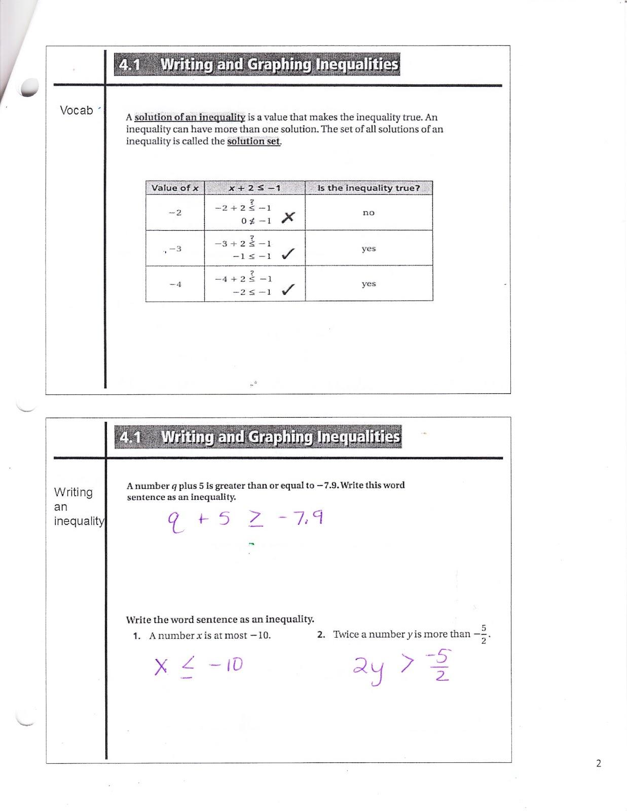 Ms Jean S Classroom Blog 4 1 Writing And Graphing Inequalities
