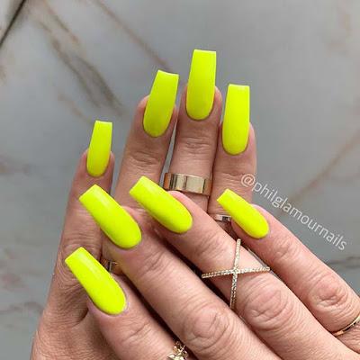 Trendy Neon Acrylic Nails
