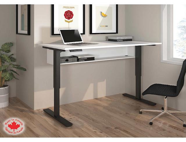 adjustable height desk for home office modern design ideas