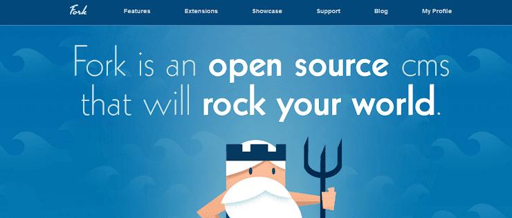 Fork content management system