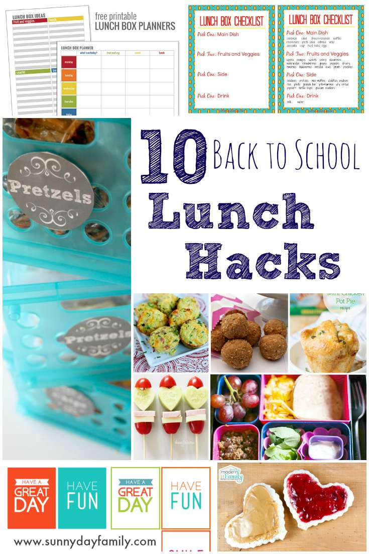 10 Back to School Lunch Hacks! Save time & money with these clever ideas - includes meal plans and free printables!