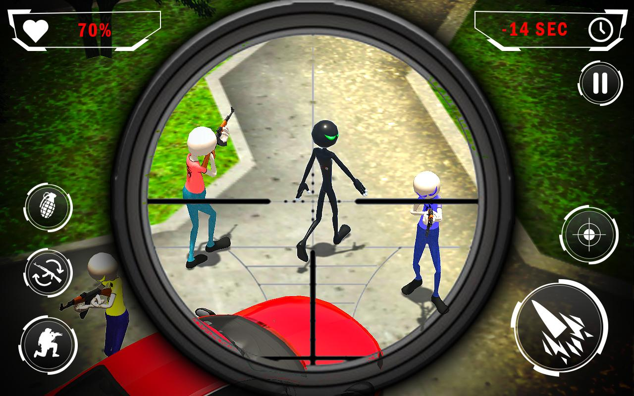 American Monster vs Stickman Ninja Sniper Battle MOD APK