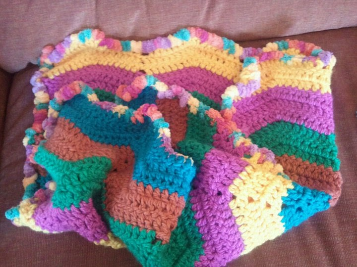 Pause Dream Enjoy New Bright Crocheted Baby Blanket With