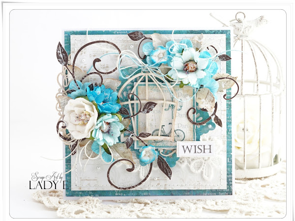 Cards with Bird Cage Wild Orchid Crafts DT