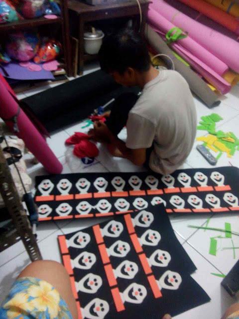 Proses cara pembuatan name tag ulang tahun anak / birthday party baby