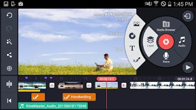 افضل برنامج لعمل فيديو احترافي للاندرويد, برنامج تصميم فيديو احترافي للاندرويد, برنامج لعمل فيديو بالصور والموسيقى للاندرويد, برنامج تصميم فيديو للاندرويد, تطبيق kinemaster  للأندرويد