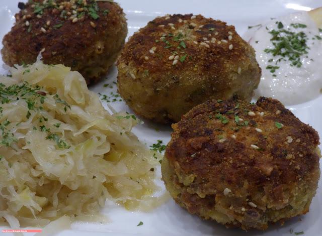 fischiscooking, kasspressknödel, sauerkraut