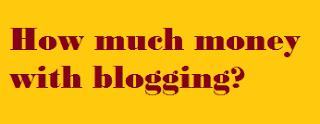 How, much money, from blogging, money, blogging