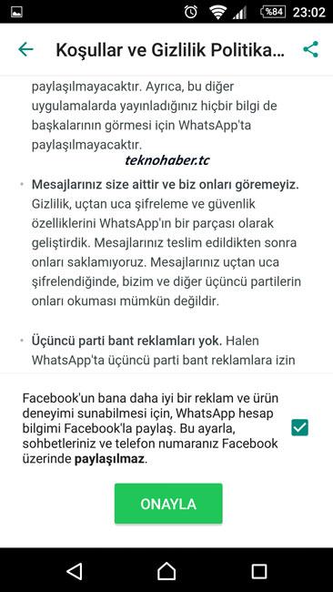 WhatsAPP Bilgilerinizi Facebook'da Paylaşıyor!