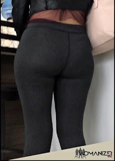 muchacha bonita calzas ajustadas