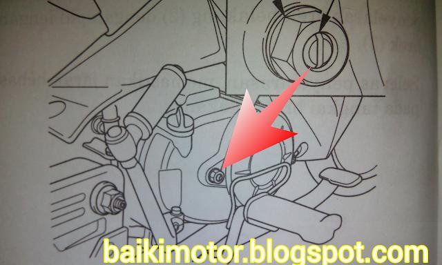 Gambar cara setting skru clutch