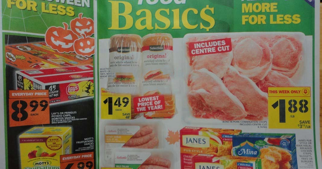 Online Business Food Basics Canada Flyer Valid October 13 To 19 2016