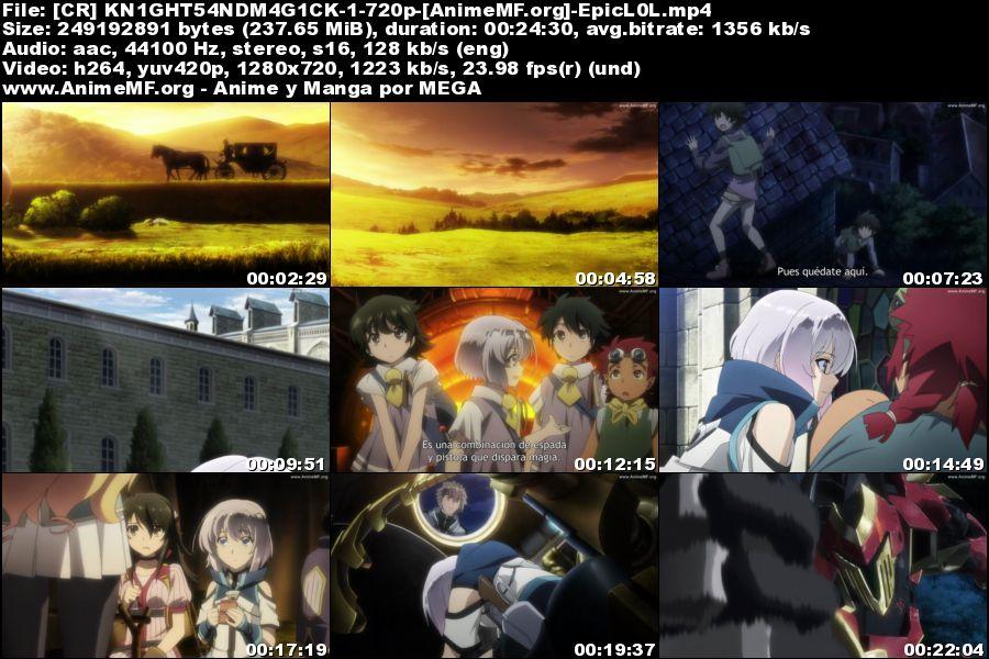 Vista previa de Knight's andMagic 01 HD Sub Español MEGA