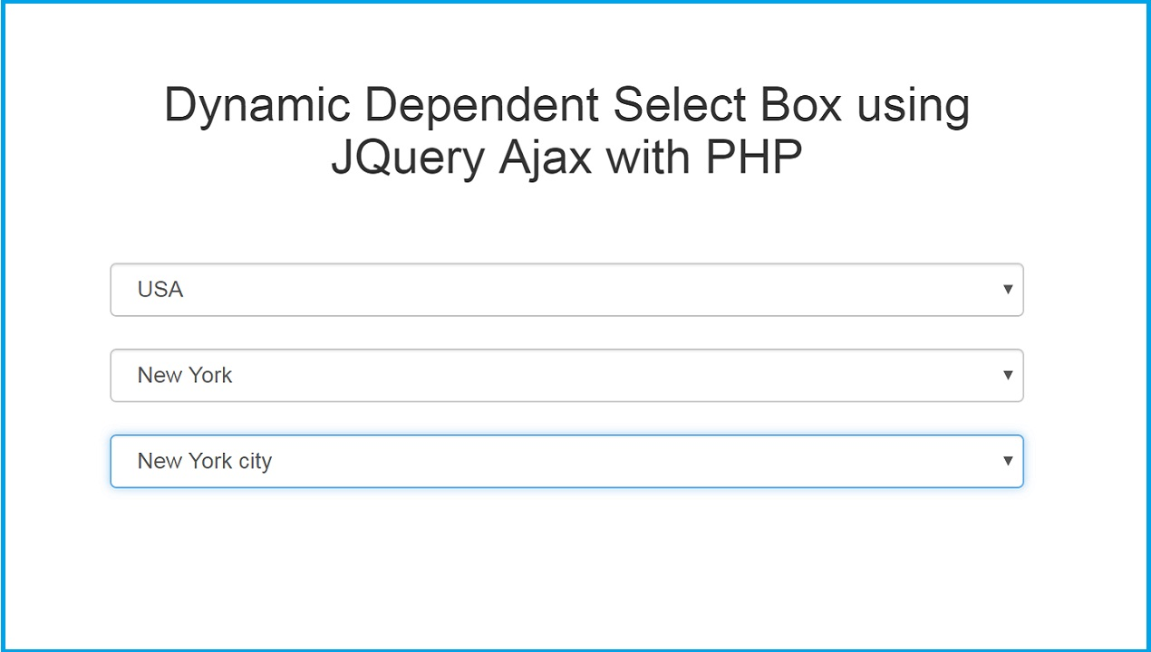 Dynamically generate a select list with jQuery, AJAX PHP
