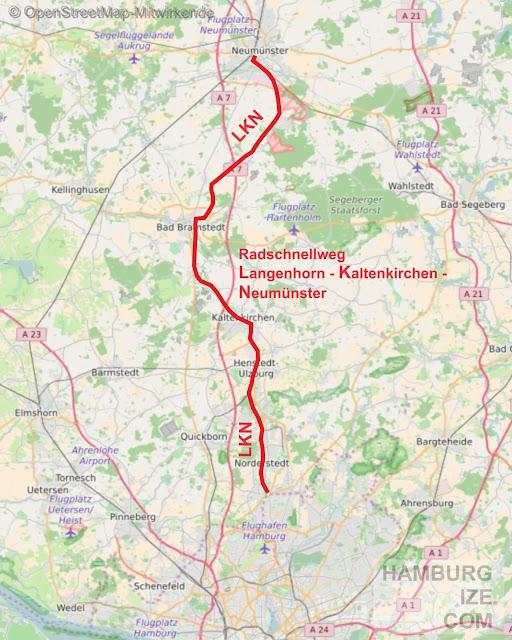Vision Radschnellweg Hamburg - Norderstedt - Kaltenkirchen - Neumünster