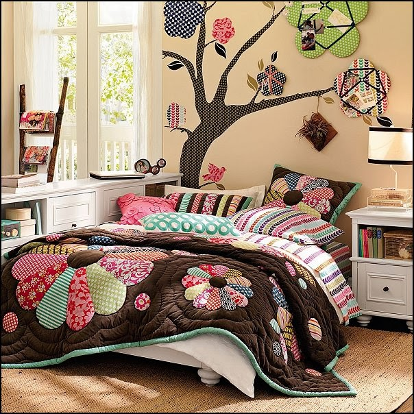 Flowers Wall Wallpapers Design For Your Bedrooms Decorating: Decorating Theme Bedrooms