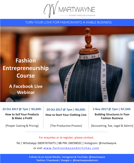 Facebook Webinar, Fashion Illustration Course, Business & Accounting Course – FAB courses this Q4 2017 at Martwayne