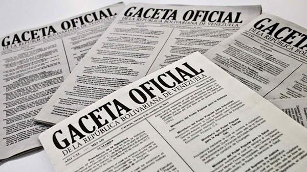 Léase Gaceta Oficial Extraordinario N° 6.455 del 7 de mayo de 2019