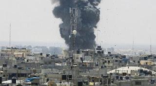 القصف الاسرائيلي لحضة بلحضة على قطاع غزة